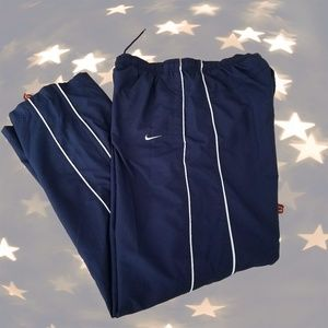 ↠Nike Women's Size Small Track Pants Navy/white↞